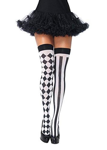 Leg Avenue Womens Harlequin Thigh Highs