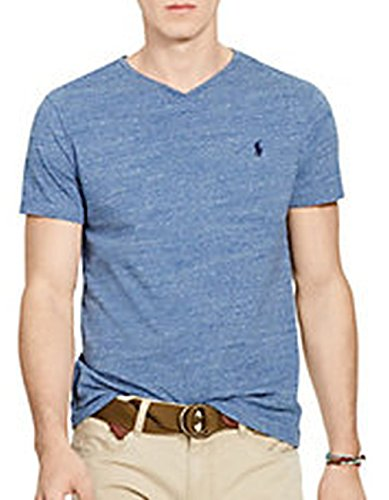 Polo Ralph Lauren Men's Classic Fit V-Neck T-Shirt Cotton (2XL, Ocean Heater)