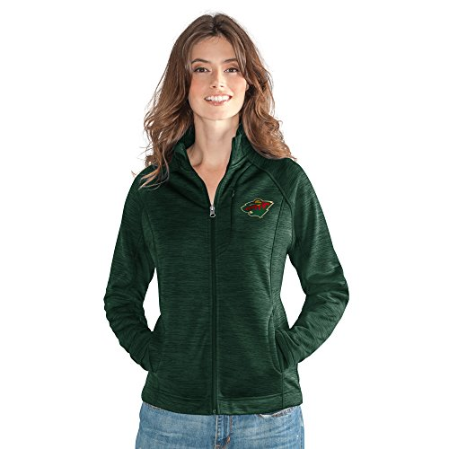 GIII For Her NHL Minnesota Wild Women's Hand Off Full Zip Jacket, Large, ()