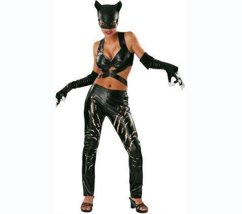 DC Comics Deluxe Adult Catwoman Costume, Black, ()