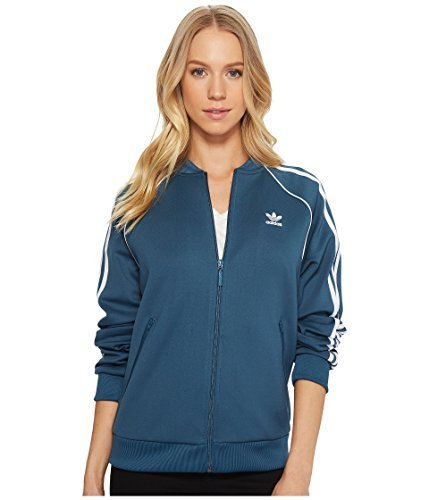 adidas Originals Women's Superstar Tracktop, Dark Steel, L Adidas Court Star