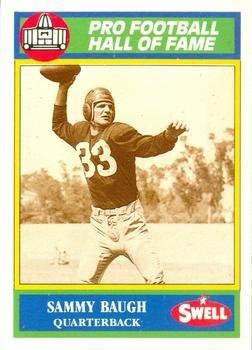 Washington Redskins Sammy Baugh football card 1990 Swell #38 Hall of Fame
