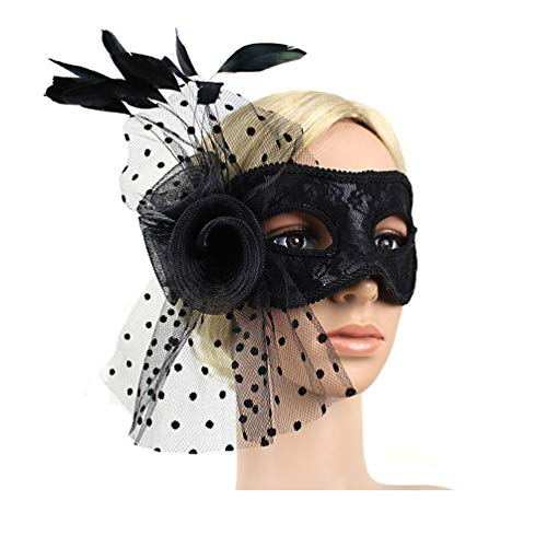 Black Sexy Charm Lace Mask Women's Party Masquerade Eye Mask Party Ball Masquerade Fancy Dress (Black)