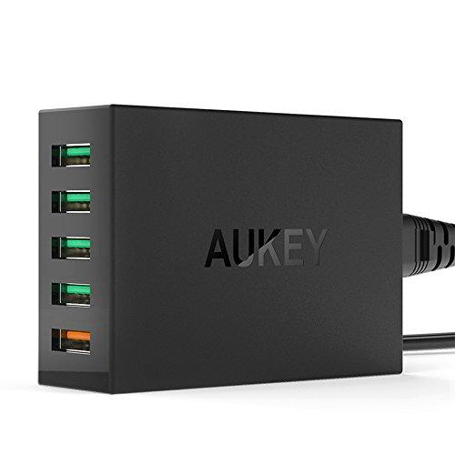 Aukey Quick Charge 2.0 54W 5 Port Micro USB Desktop Mobile C