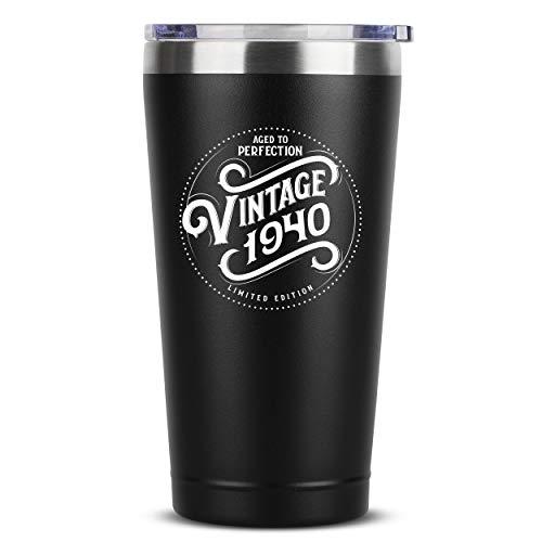 Aged to Perfection 80th Birthday Insulated Travel Coffee Mug