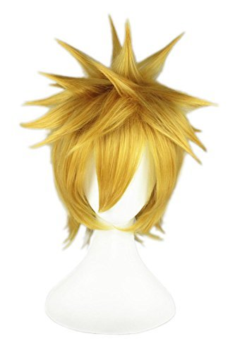 LOUISE MAELYS Short 32cm Anime Character Cosplay Full Wigs Party Costume Blonde -