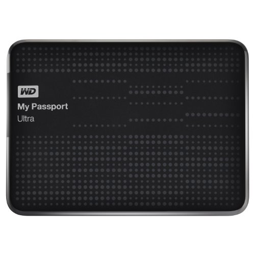 WD My Passport Ultra Portable External USB 3.0 Hard Drive 1TB Black