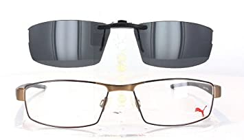 a020a0f3ece5 Image Unavailable. Image not available for. Color: PUMA PU15387-57X16  POLARIZED CLIP-ON SUNGLASSES (Frame ...