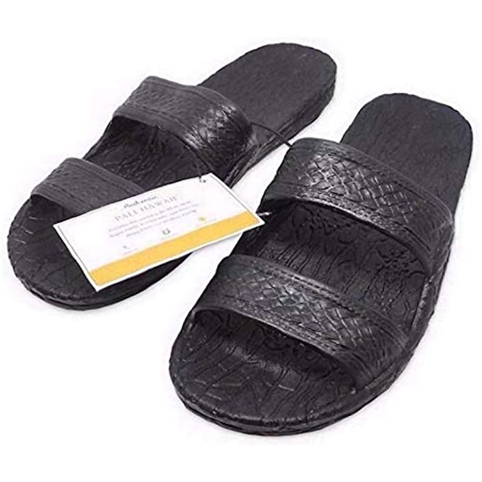 Pali Hawaii Black JANDAL + Certificate of Authenticity