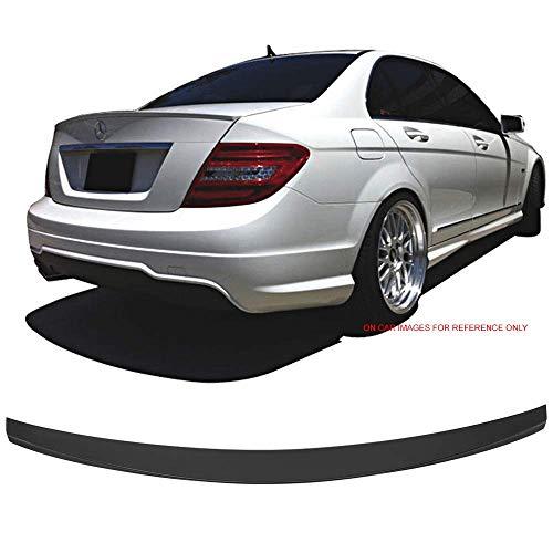 Trunk Spoiler Fits 2008-2014 Benz W204 C Class   IKON Style Unpainted ABS Added On Lip Wing Bodykits by IKON MOTORSPORTS   2008 2009 2010 2011 2012 2013 2014