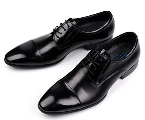 marron Robe pointu 37 Formel Oxfords Entreprise Appartement Cuir Lacer Bout 44 Noir Mariage Chaussures Hommes Taille Black YTq4Ufwx
