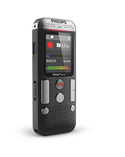 Philips DVT2510/00 Voice Tracer with 2 Mic Stereo (Stereo Voice Recorder)