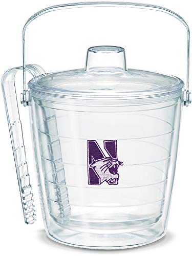 Tervis 1053452 Northwestern Wildcats Logo Ice Bucket with Emblem and Clear Lid 87oz Ice Bucket, Clear (Ice Bucket Tervis)