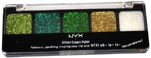NYX Glitter Cream Palette 08 Fresh Greens