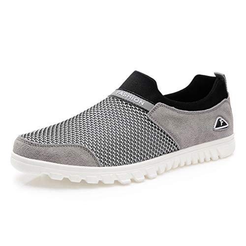 Shoes Mesh Leisure Driving Male Lightweight Grigio Jogging Mens Shoes Walking Qianliuk Breathable qxTfBOtUw