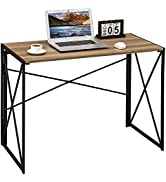 Coavas Computer Desk Writing Study Desk Folding Laptop Table for Home Office Modern Simple Workst...