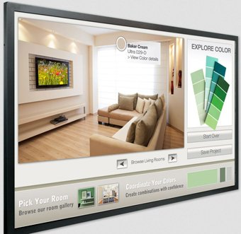 "Planar Systems 997-7656-01 Diagonal Touchscreen, Ultra Slim, LED Backlight, Metal Bezel, 55"" Size"