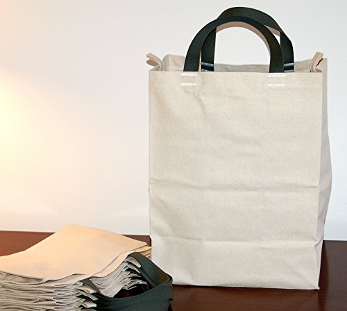 Turtlecreek Cotton Canvas Reusable Grocery Tote Bags - Short