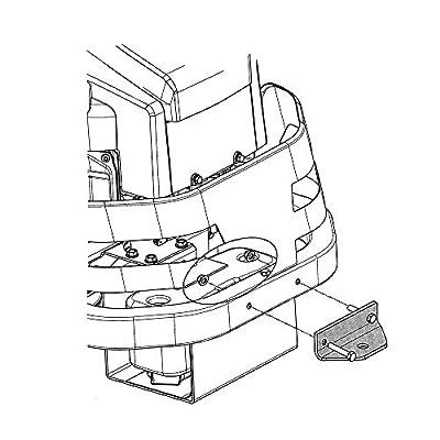 HEKA Zero Turn Mower Rear Hitch Kit Trailer Hitch for Husqvarna RZ and Z200 Series 587481201: Garden & Outdoor