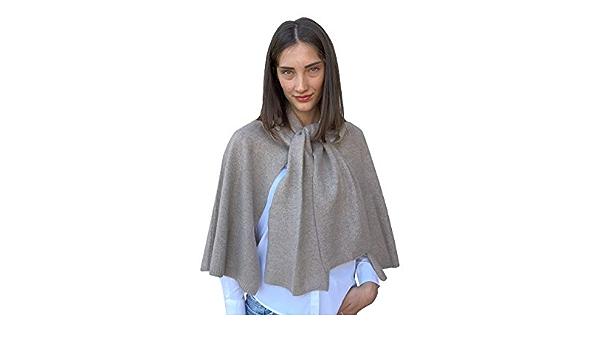 blanco beige fabricado en Italia Poncho mixto de cachemir para mujer gris regalo para ropa invierno azul chal talla /única camiseta pashmina negro lana merina cachemir