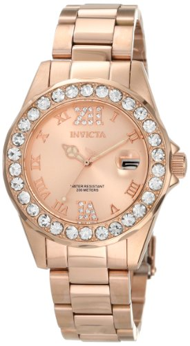 Invicta Womens 15253 Pro Diver Rose Gold Ion-Plated Stainless Steel Watch
