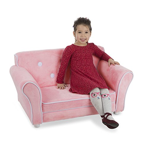 Melissa & Doug Child's Sofa – Pink Plush Children's Furniture – Amazon Exclusive