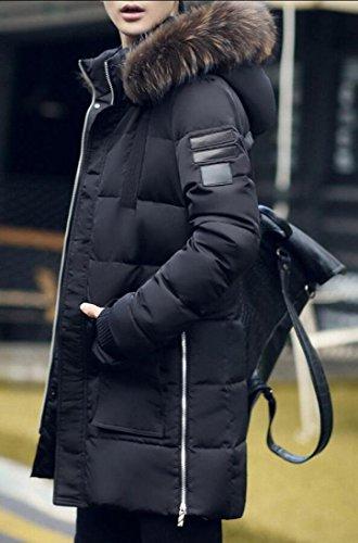 Ispessiscono length Con amp; amp; Outwear Uomini Degli Inverno Nero S Parka Full W Cappuccio M 0azxP0