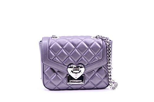 Moschino Borsa Nappa Pu Quilted Silver