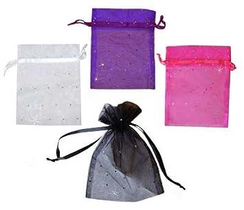 Amazon.com: 4 x 5 inch bolsas de Organza con lunares de ...