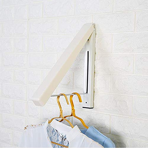 Festnight Wall Hanger Stainless Steel Foldable Drying Rack, Adjustable Retractable Indoor Clothes Hanger Waterproof Clothes Towel Rack Folding Home Laundry Room Closet Storage & Organization.