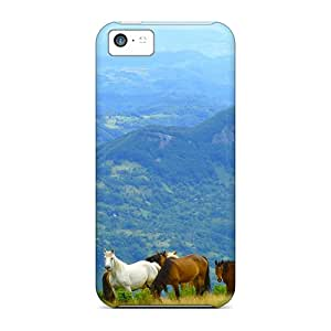 Premium Stud On Top Of Mountain Heavy-duty Protection Cases For Iphone 5c