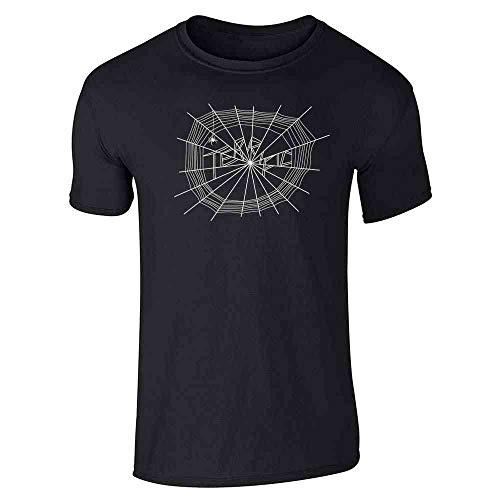 Pop Threads Terrific Web Black L Short Sleeve -