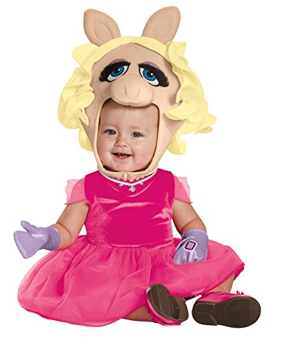UHC Girl's Miss Piggy Theme Outfit Infant Toddlar Halloween Fancy Costume, Toddler M (3T-4T)