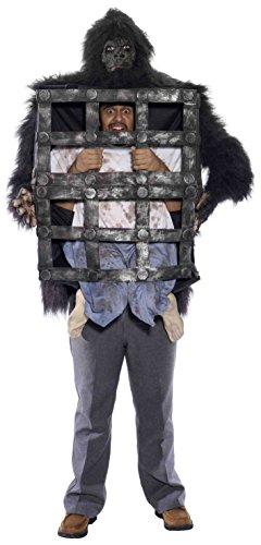 Gorilla with Cage Costume for Adults White