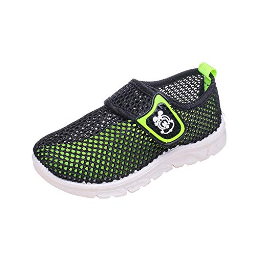 Sunyastor Toddler Kids Water Shoes Breathable Mesh Running Sneakers Sandals for Boys Girls Running Pool Beach Casual Shoes Black
