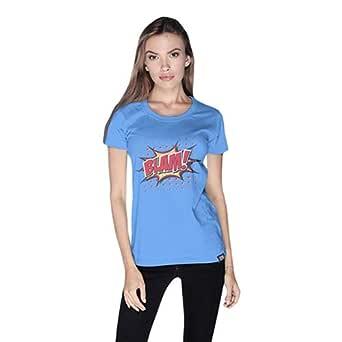Cero Blam Retro T-Shirt For Women - Xl, Blue
