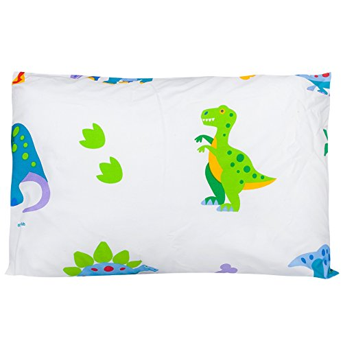 [Olive Kids Dinosaur Land 13 1/2 x 19 Hypoallergenic Toddler Pillowcase] (Pillowcase Dress Costume)