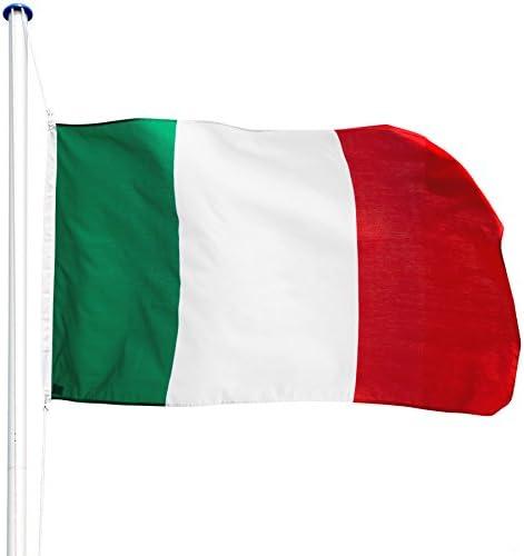 TecTake Mástil para Bandera 6,25 m con Bandera y Cuerda Palo asta Aluminio - Varios Modelos - (Italia   no. 402849): Amazon.es: Hogar