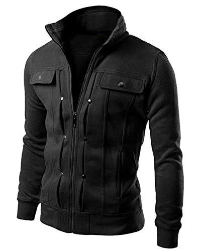Di Del Lunga Sottile Inverno Moda Autunno Nero Abbigliamento Giacca Collare Sportiva Huixin Maschile Tuta Giacche Cappotto Modo Manica Casual Progettato Stare Del Dell'annata RCzqSqnw