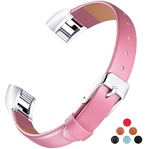 Konikit Fitbit Alta HR and Alta Bands Leather Accessory, Adjustable Replacement Wristband with Metal Connectors for Fitness Band, - Alto Sunglasses
