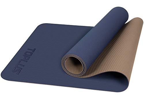 TOPLUS Yogamat, gymnastiekmat, trainingsmat, oefenmat met draagriem, antislip, goed voor beginners, bij yoga, fitness…