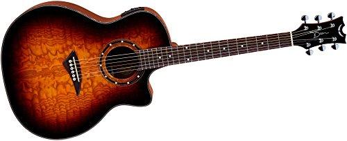 - Dean Exotica Ultra Quilt Ash Acoustic-Electric Guitar Transparent Brazilia