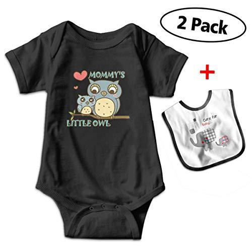Sander Renata Mommys Little Owl Baby Boys Girls Cotton Short-Sleeve Bodysuit