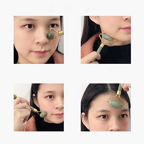 Aventurine Gua Sha Face Massage Roller, Natural Stone Guasha Board Best Jade Roller for SPA