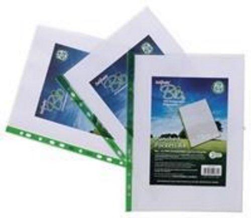Snopake Bio2 Klarsichthüllen A4 biologisch abbaubar gelocht 100 Stück transparent 15440