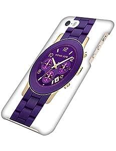 Cool Michael Kors (MK) Brand Logo Case Iphone 5s Case Shock resistente Famous Brand Iphone 5 Cover Case 3D Purple For Men