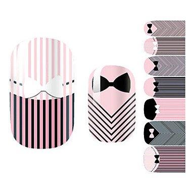 alallti 28pcs corbata a rayas diseño pegatinas de uñas: Amazon.es ...