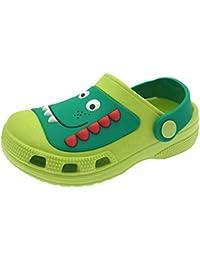 Clogs Kids Cute Garden Shoes Boys Girls Comfort Indoor Outdoor Slippers Soft Walking Beach Sandals Toddler/Little Kid