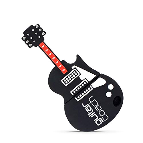(USB 2.0 Flash Drive Gifts for Guitar Player,8G Memory Stick for Music Student,Teacher,Musician,Guitarist,Glassmate Gift,Cartoon Silicone Keychain Pendrives for Child Studying)