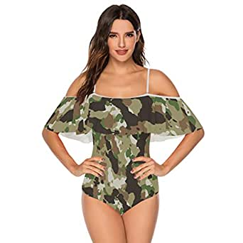Military Camo Camouflage Pattern Print (24) Swimsuit